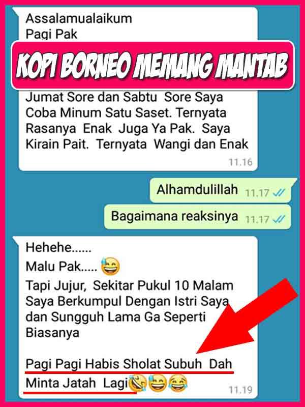 Toko Kopi Borneo Untuk Stamina Pria di Ogan Komering Ulu Timur